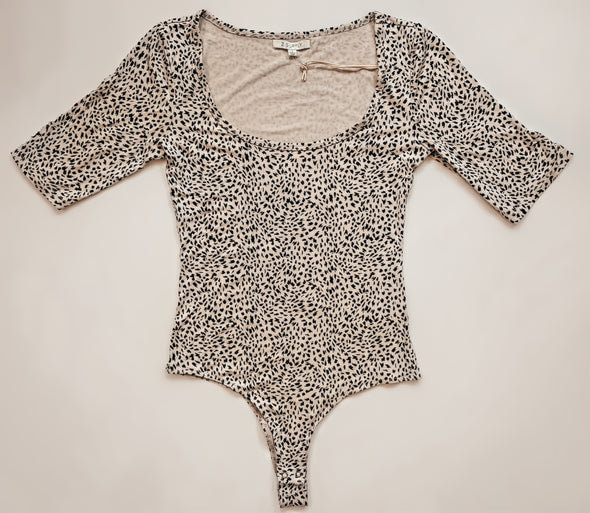 Z Supply Sandshell Cara Mini Leopard Bodysuit