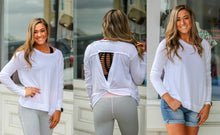 White Workout Top with Cutout Back