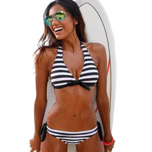 NORA Striped Halter Two Piece Bikini-Lovella Bikini