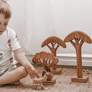 african trees ~ natural (3 piece set)