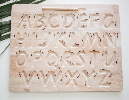 alphabet trace and write board
