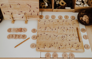 alphabet trace and write board (lowercase and uppercase)
