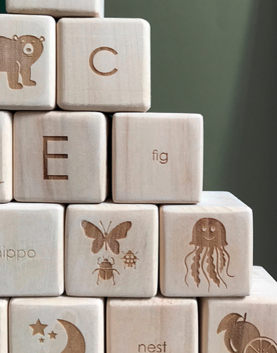 alphabet block set (natural)
