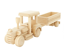 wooden tractor with trailer (Was $75, NOW $59)