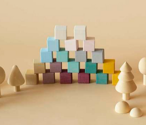 cube block set ~ forest (in stock)