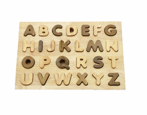 uppercase natural alphabet puzzle