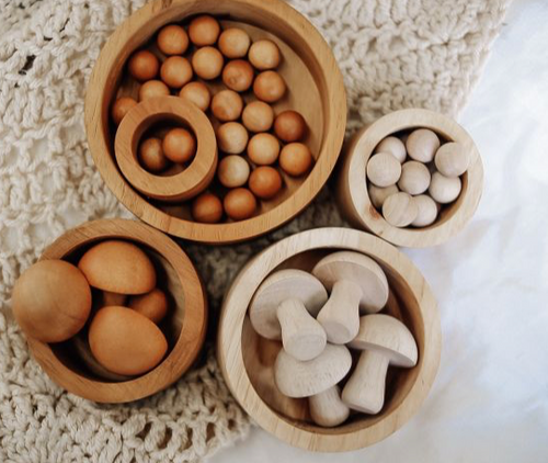 natural stack and nest bowls