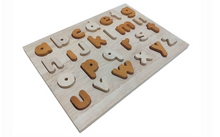 lowercase alphabet puzzle ~ natural