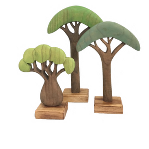 african tree set ~ green (3 piece set)