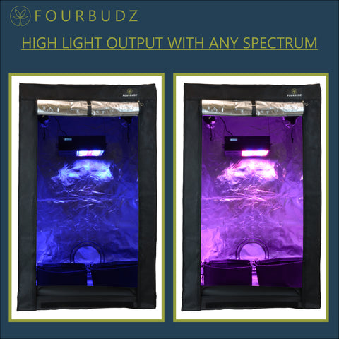 FOURBUDZ - 6BUDZ Six Plant LED Grow Tent Kit With Fabric Smart Pots