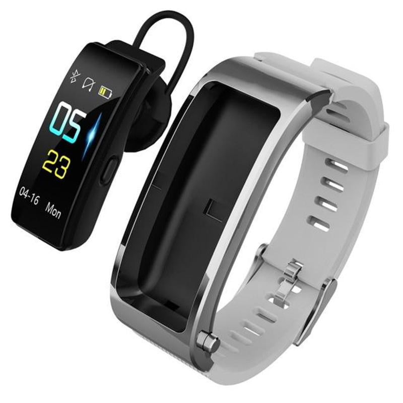 Buy 2 Free Shipping 2-in-1 Smart Bracelet with Bluetooth Earphone (Last Day Promotion)