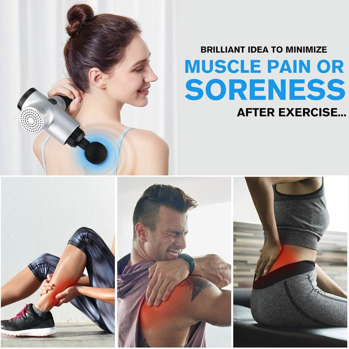 (Last Day 60% OFF)4 In One,Relieving Pain,3 Speed Setting Body Deep Muscle Massager