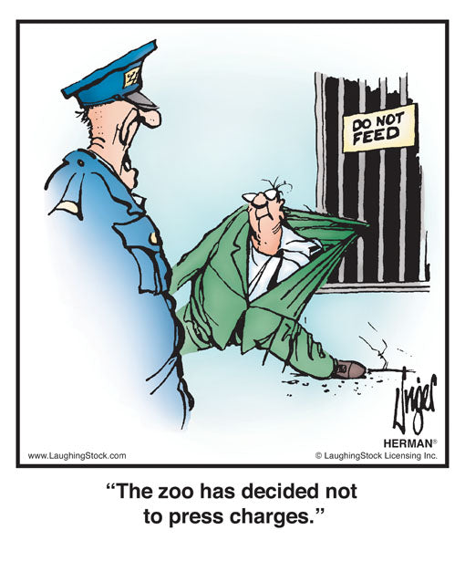 The zoo has decided not to press charges.