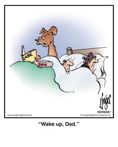 Wake up, Dad.