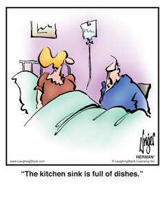 The kitchen sink is full of dishes.