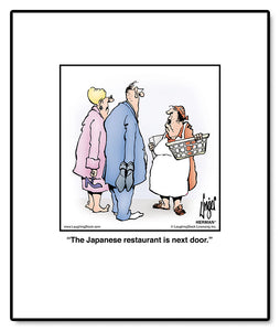 The Japanese restaurant is next door.