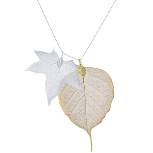 Metallic Leaves Necklace
