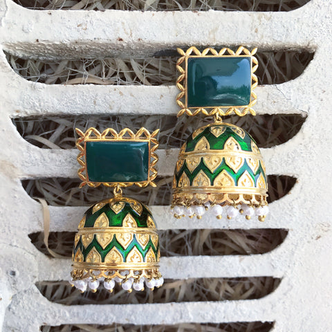 The Tribal Jhumkis - Green