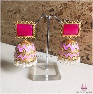 The Tribal Jhumkis - Pink