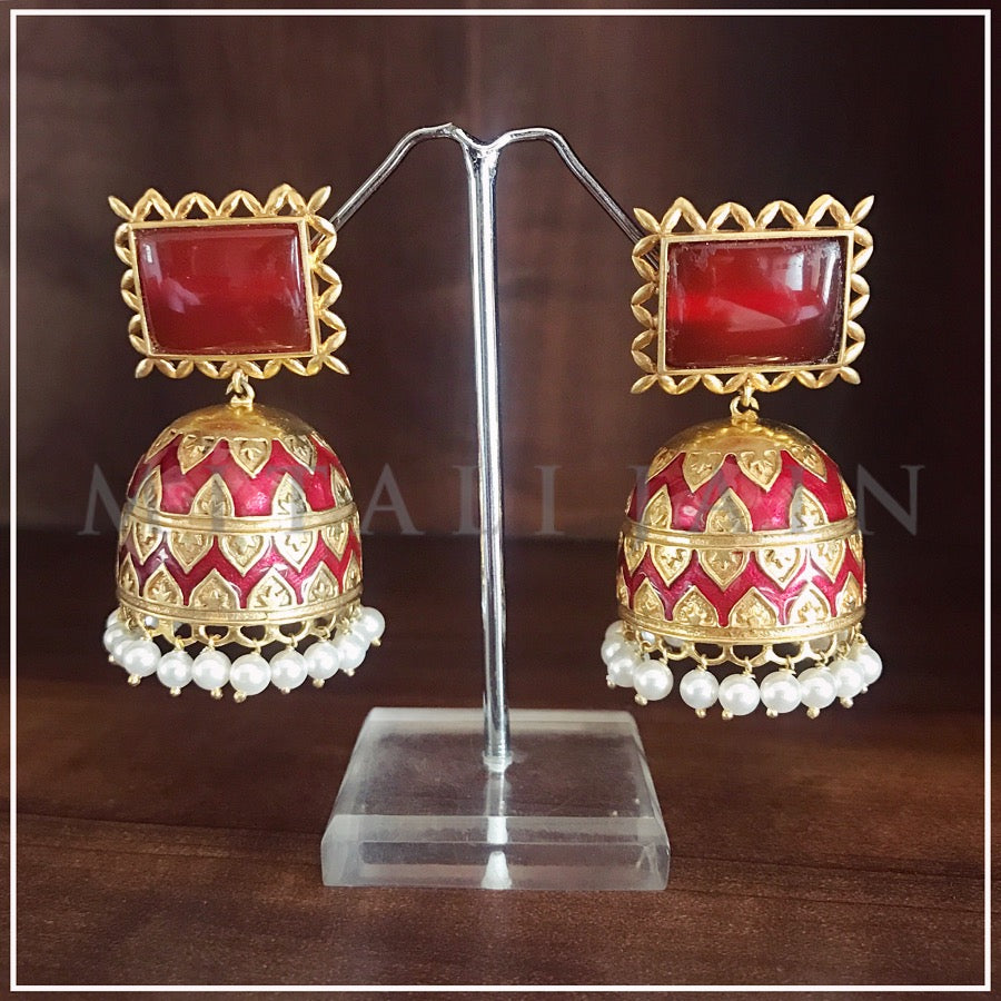 The Tribal Jhumkis - Red