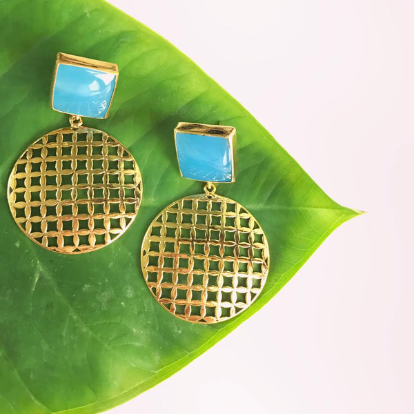 The Mesh Earrings - Blue