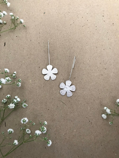 Fleur Earrings - Silver Plated