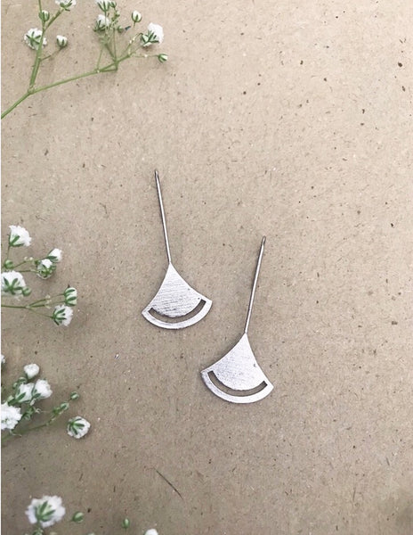Bell Earrings - Silver Plated
