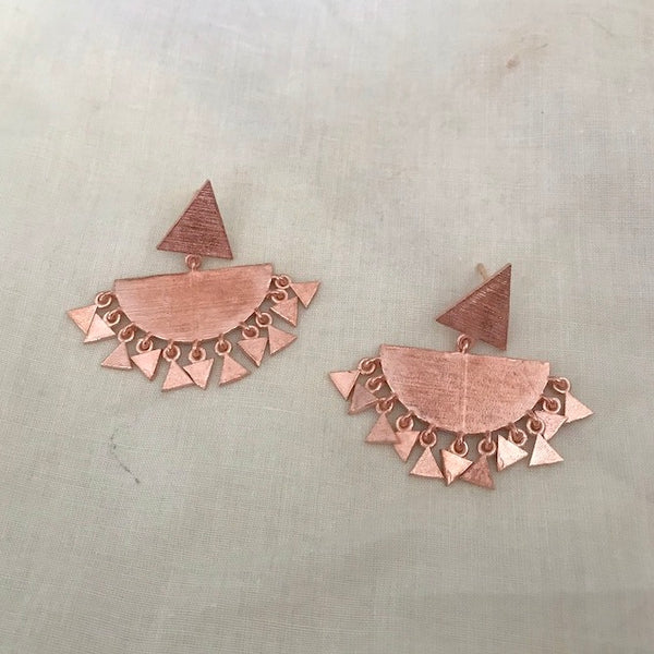 Aster Chandbali Earrings - Rose Gold Plated