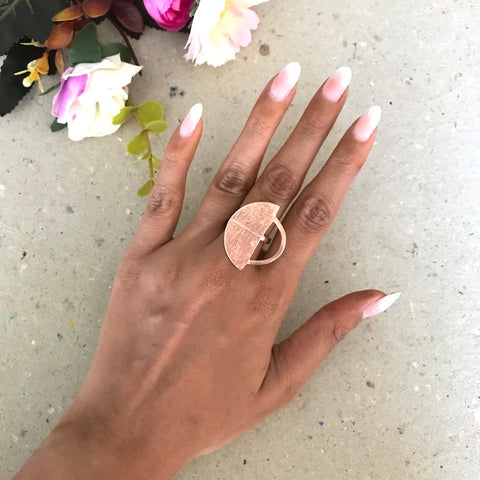 Empty Dome Ring - Rose Gold