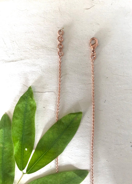 Zig Zag Necklace - Rose Gold