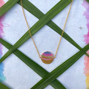 Phase Necklace - Gibbous Moon