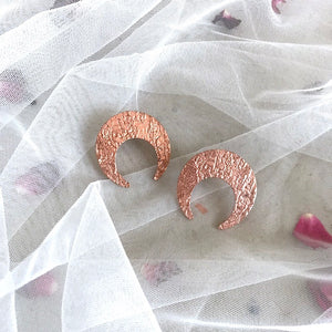 Horseshoe Studs - Rose Gold