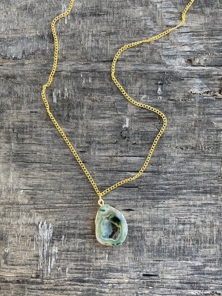 Agate Necklace -Kale