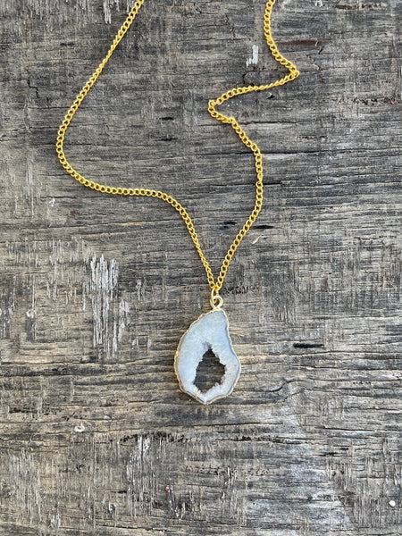 Agate Necklace - Frost