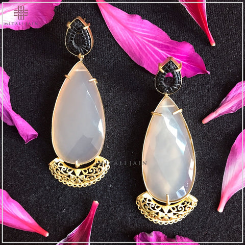 The Black & Grey Drop Earrings