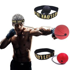 Head-mounted Boxing Reflex Ball MMA Sanda Boxer Raising Reaction Force Hand Eye Training Set
