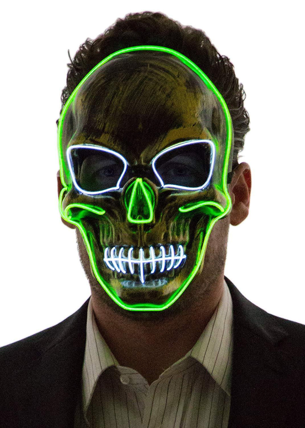 Factory Outlet 50% OFF Today-Neon Nightlife Men's Light up Scary Death Skull Mask