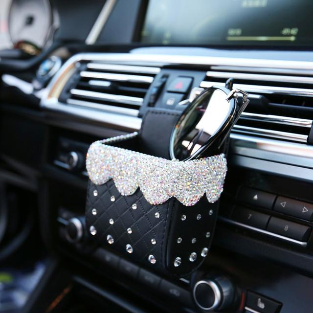Bling Bling Car Cellphone Storage Box