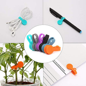 LIMITED-Cable Organizer Cable Clips Magnetic Ties Straps Cord Management Wire Holder System Refrigerator Magnets