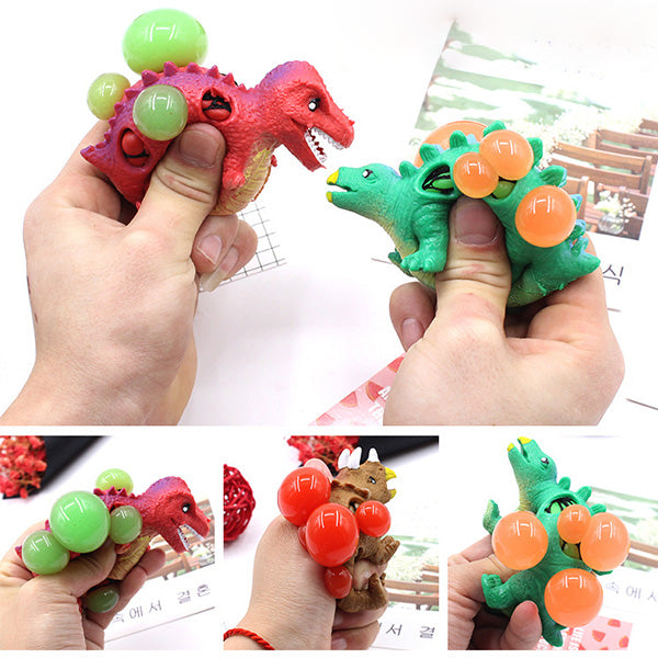 Squishy Dinosaur Venting Ball Grape Squeeze Relievers Stress Sensory Gift Toy