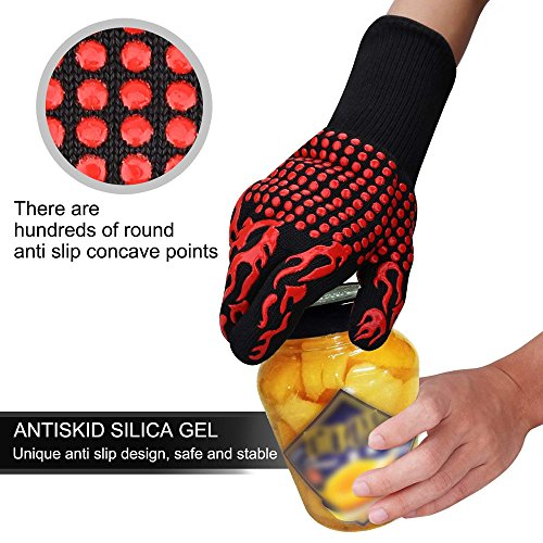 Hot 932°F Heat Resistant Barbecue BBQ Grilling Gloves