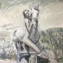 """Western Daring"" by Cara Grace, Oil on Canvas"
