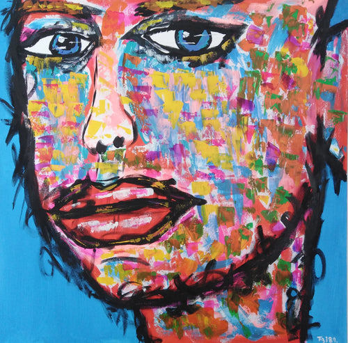 """Troubled Mind"" By Fredrik Bulow, Acrylic on Canvas"