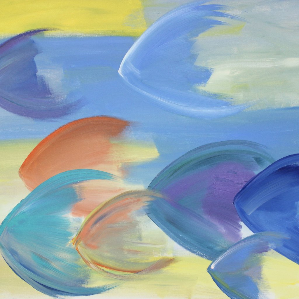 School of Fish, Acrylic on Stretched Canvas by John Kneapler
