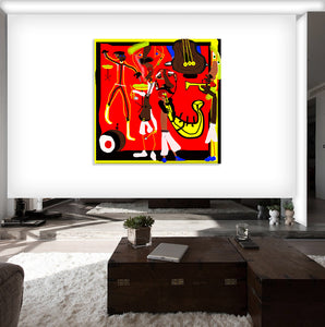 """THE CROUD WENT WILD!"" By Eran Shookroon, Archival pigment Print on Canvas"