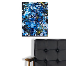 Blue Abstract by Ronzonni, Mixed Media (Framed)