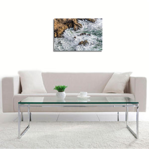Pacific Surf by John Mazlish, Photograph on semi-gloss, dye sublimated aluminum