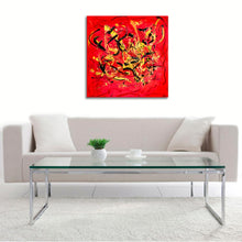 Crimson Fire by Simone, Acrylic on Canvas