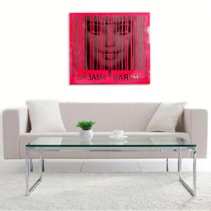 """Hot Pink Barbie"" By Victoria Fuller, Mixed Media on Canvas"