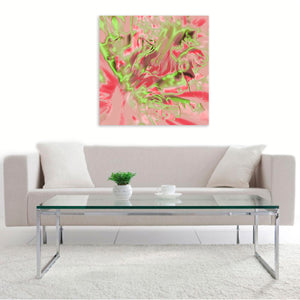 """Electric Blossom"" by Irina Vladau, Digital Art and Original Print on Canvas"